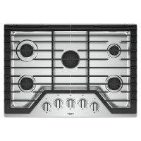 WCG97US0HS Whirlpool 30 Inch Gas Cooktop with Griddle - Stainless Steel