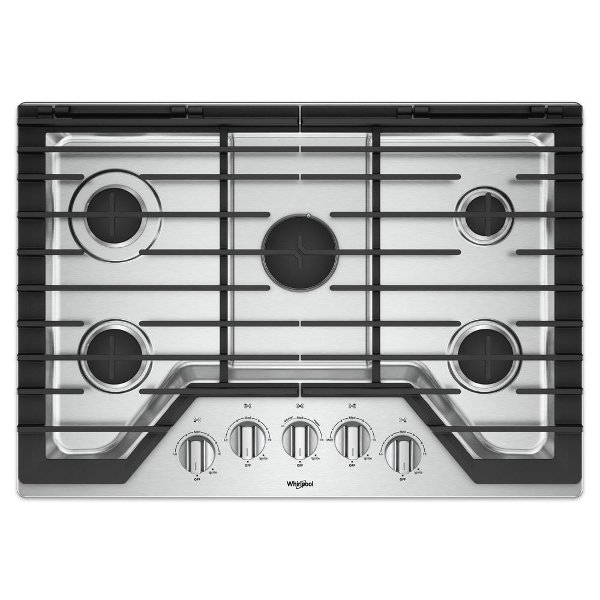 76f3c9d9363 Whirlpool 30 Inch Gas Cooktop - Stainless Steel