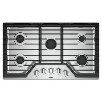 WCG97US6HS Whirlpool 36 Inch Gas Cooktop with 5 burners and SpillGuard - Stainless Steel