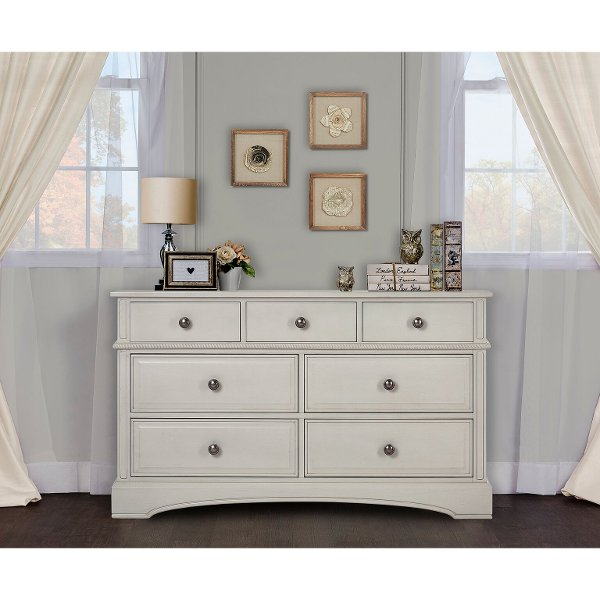 ... Classic Antique White Dresser - Evolur ... - Kid Dressers - Bedroom Furniture - RC Willey