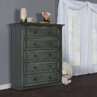 Classic Antiqued Slate Chest - Napoli
