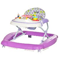 2-in-1 Periwinkle Musical Baby Walker and Rocker
