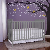 Contemporary Steel Gray 3 in 1 Convertible Crib - Carson