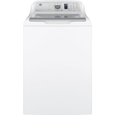 GTW685BSLWS GE Washer with Stainless Steel Basket - 4.5 DOE cu. ft. White