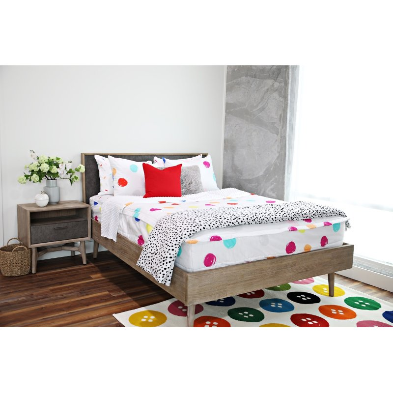 Beddy's Full Multi-Color Get Happy Bedding Collection