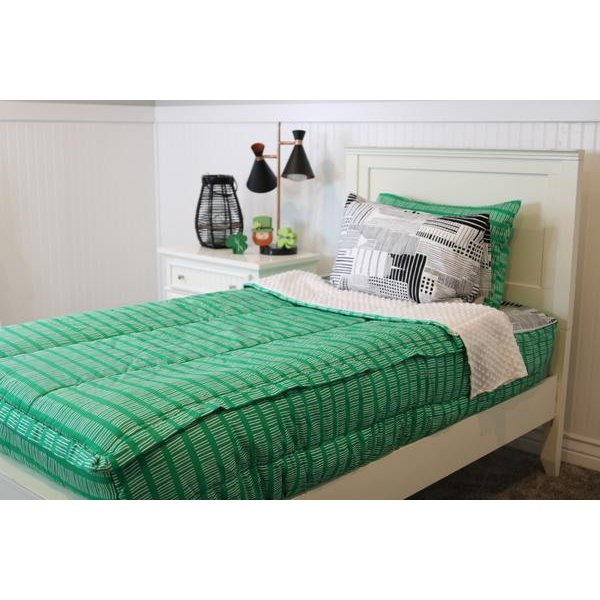 Beddy's Full Kelly Green Central Park Bedding Collection