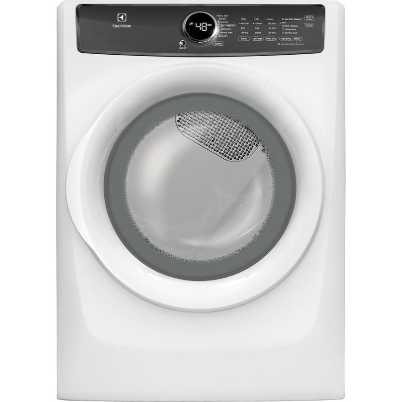 Electrolux Perfect Steam Electric Dryer - 8.0 Cu. Ft. White