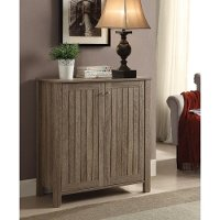 Weathered Gray Country Two-Door Shoe Storage Cabinet