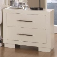 Modern Contemporary White Nightstand - Jessica