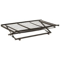 Black Metal Pop-Up Twin Trundle Bed - Classic