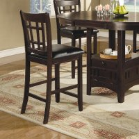 Transitional Espresso Counter Height Stool (Set of 2) - Lavon