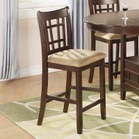 Transitional Brown Upholstered Counter Height Stool - Lavon