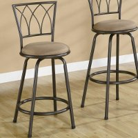 Classic Brown 2 Piece Counter Height Stools