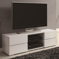 Glossy White Contemporary 55 Inch TV Stand