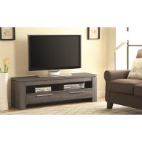 Weathered Gray Transitional 60 Inch TV Stand