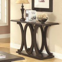 Casual Cappuccino Brown Sofa Table