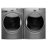 KIT Whirlpool Front Load Washer and Gas Dryer Pair - Chrome Shadow