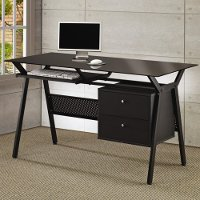 Black Metal Casual Computer Desk