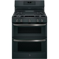 JGB860FEJDS GE 30 Inch Free-Standing Gas Double Oven Convection Range - Black Slate