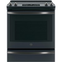JS760FLDS GE 30  Slide-In Electric Convection Range - Black Slate