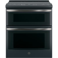 PS960FLDS GE Profile Series 30  Slide-In Electric Double Oven Convection Range - Black Slate