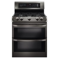 LDG4313BD LG Double Oven Gas Range - 6.9 cu. ft. Black Stainless Steel