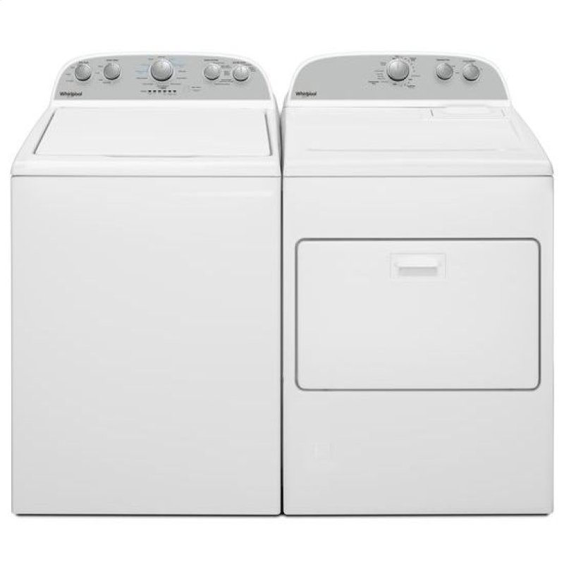 Whirlpool Top Load Washer and Dryer Set with Rear Controls - White Gas