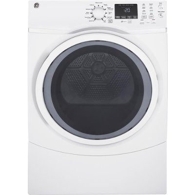 GFD45ESSMWW GE Electric Dryer - White 7.5 cu. ft.