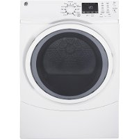 GFD45GSSMWW GE 7.5 cu. ft. capacity Front Load Gas Dryer with Steam - White