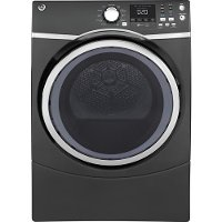 GFD45GSPMDG GE 7.5 cu. ft. Front Load Gas dryer with steam - Diamond Gray