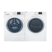 KIT GE Front Load Washer and Dryer Set - White Gas