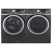 KIT GE Front Load Washer and Electric Laundry Kit - Diamond Gray