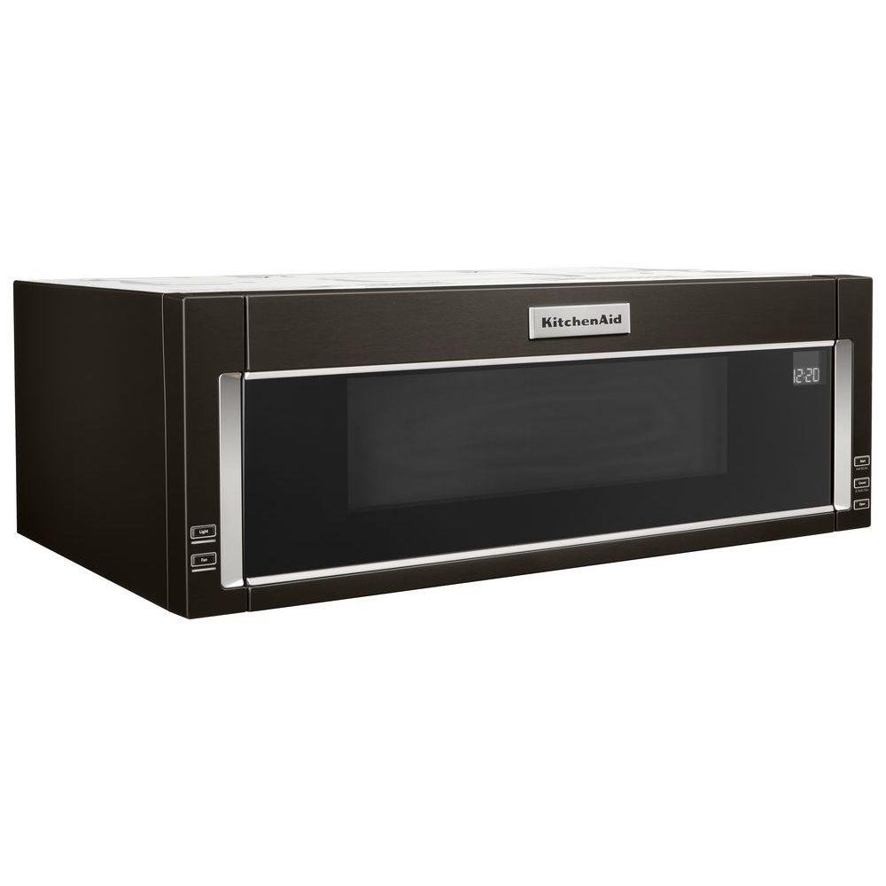 Ft Over The Range Low Profile Microwave Hood Combination Black Stainless Steel Rc Willey Furniture