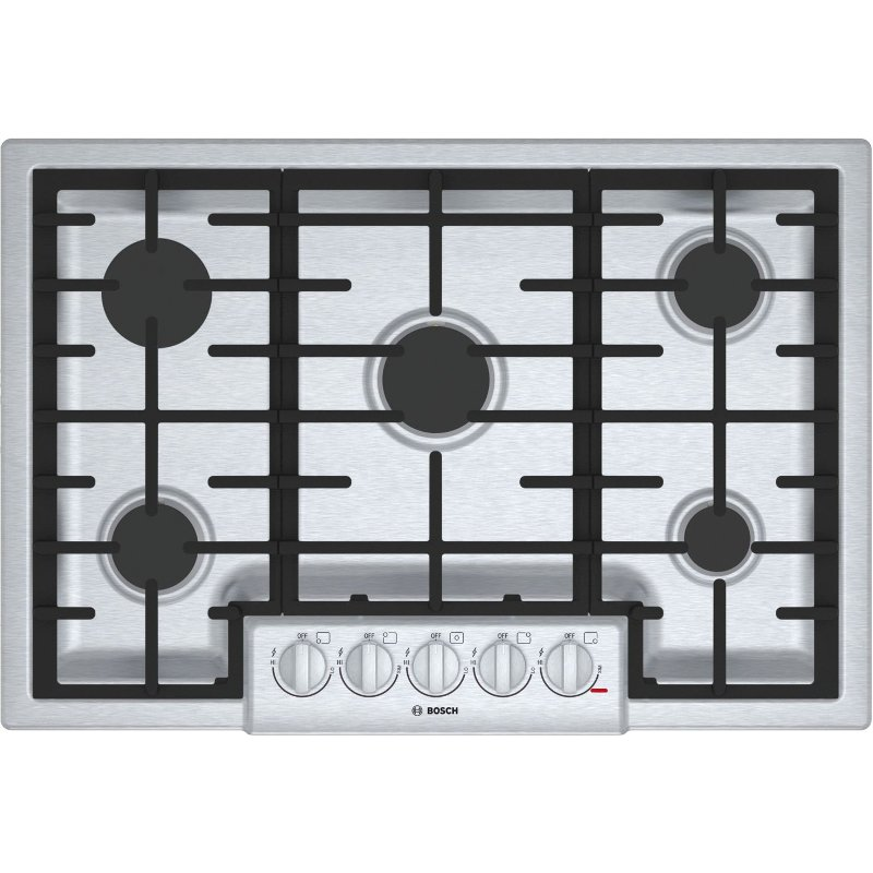 Ngm8056uc Bosch 30 Inch 5 Burner Gas Cooktop Stainless Steel