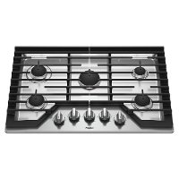 WCG77US0HS Whirlpool 30 Inch Gas Cooktop - Stainless Steel