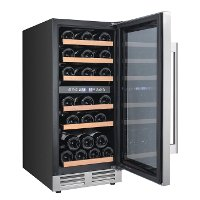 WCF282E3SD Avanti 28 Bottle Designer Series Dual Zone Wine Chiller with Seamless Door