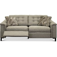 92P-898/B152952/PSOF Pebble Brown duo 2 Seat Reclining Sofa - Luke