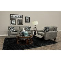 92P-897/D153156/PSOF Ash Gray duo 2 Seat Power Reclining Sofa - Edie