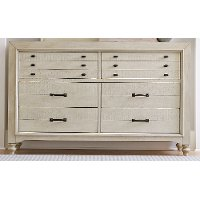 Rustic Antique White Dresser - Catawba