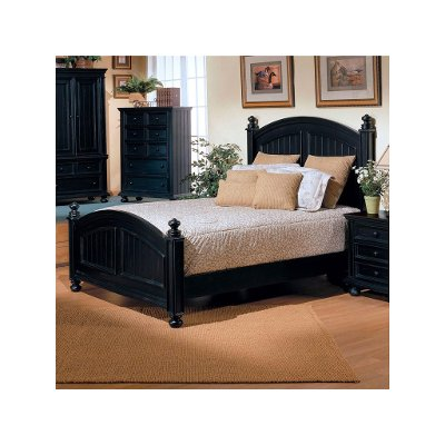 Classic Black King Size Bed - Cape Cod