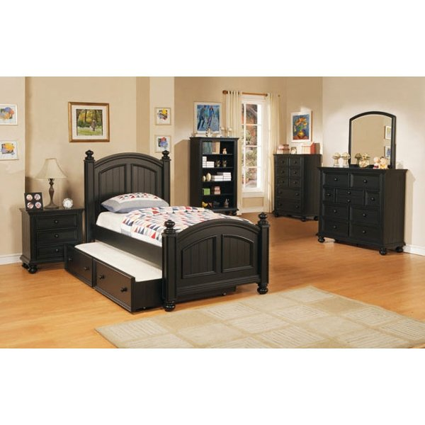 ... Classic Black 4 Piece Twin Bedroom Set   Cape Cod