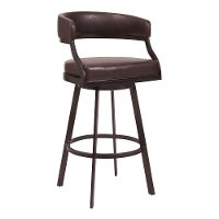 Mid Century Modern Brown Swivel Counter Height Stool - Saturn