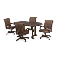 Clearance Walnut Round Dining Table - Palance