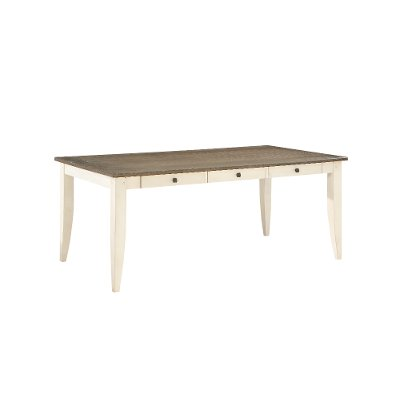 Two-Tone White and Gray Dining Room Table - Grace
