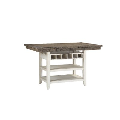 Gray and White Counter Height Dining Table - Grace