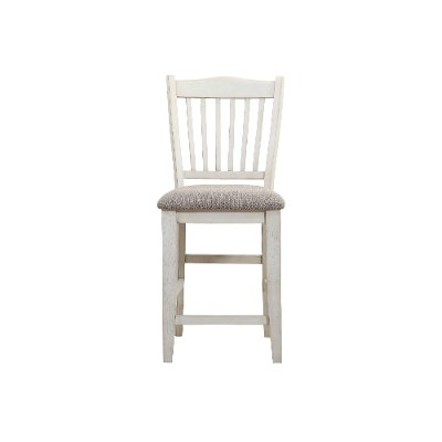 Gray and White Counter Height Stool - Grace