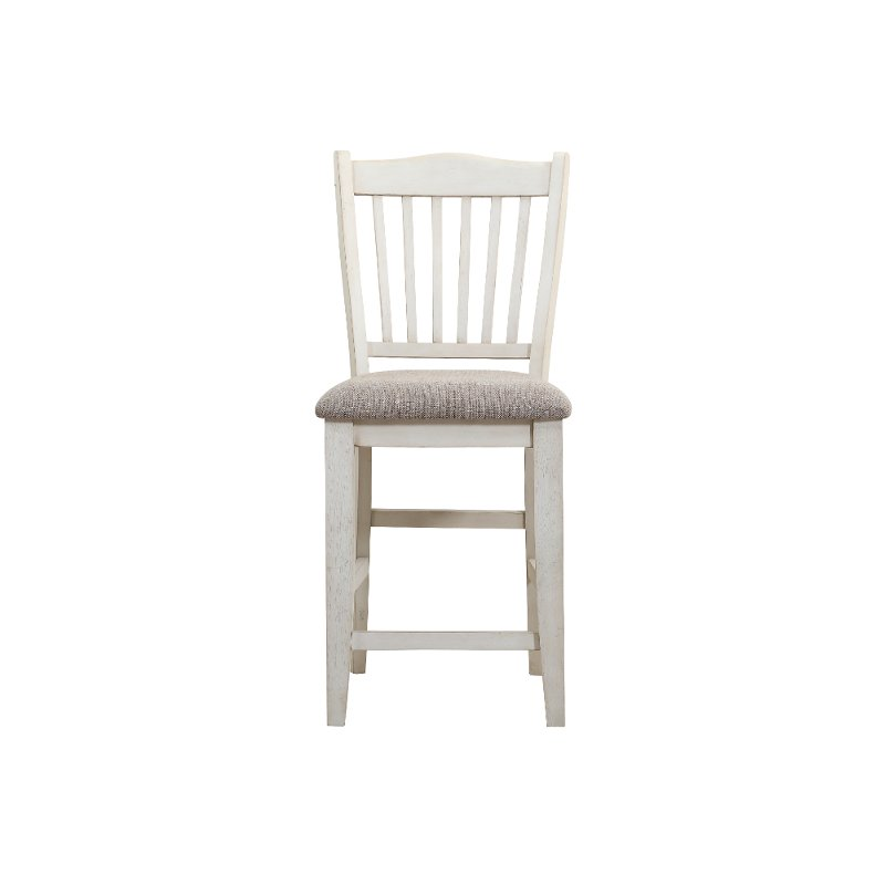 Gray And White Counter Height Stool Grace