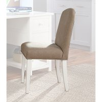 Classic White and Dark Beige Desk Chair - Study Hall