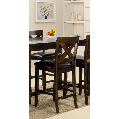 2512/BARSTOOL Dark Walnut Counter Height Stool - Monaco