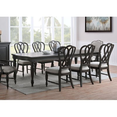 Traditional Black Dining Room Table - Natchez Trace